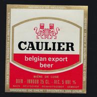 étiquette Bière Belgique: Belgian Export Béer Caulier  25cl 5% Brasserie De Ghlin - Beer