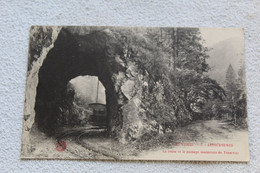 Cpa 1915, Retournemer, La Route Et Le Passage Souterrain Du Tramway, Vosges 88 - Other Municipalities