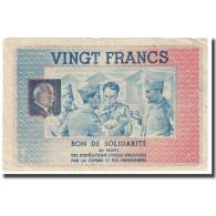 France, Secours National, 20 Francs, TTB - Bons & Nécessité