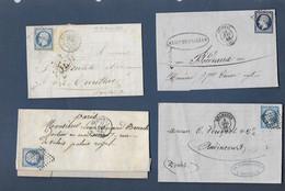Lot De Lettres  Avec Timbres Napoléon - 1853-1860 Napoleon III