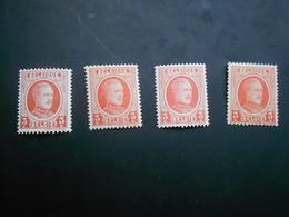 192 Xx MNH Albert I - Houyoux Kleuren - Couleurs - 1922-1927 Houyoux
