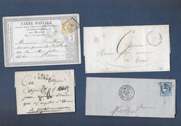 Lot De Lettres  Avec Timbres Céres - 1849-1850 Ceres