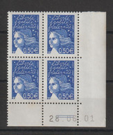 France 2002 Coin Daté Marianne De Luquet 3449 ** MNH - 2000-2009