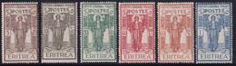 Eritrea Pro Istituto 1926 Serie Completa Sass. 107/112 MNH** Cv 20 - Erythrée