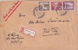 ALLEMAGNE 1936 LETTRE RECOMMANDEE DE MÜNCHEN AVEC CACHET ARRIVEE BAD TÖLZ - Briefe U. Dokumente
