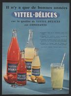 Pub Papier 1958  Boisson Soda Vittel Delices Vosges 88 Citron Orange Agrumes - Advertising