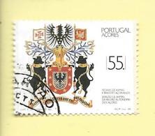 TIMBRES - STAMPS - PORTUGAL (AÇORES) -1988- PIERRES D'ARMES ET BLASONS DES AÇORES - TIMBRE OBLITÉRÉ - Used Stamps