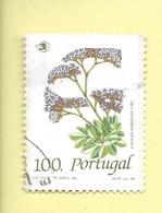 TIMBRES - STAMPS - PORTUGAL - 1989 - FLEURS SAUVAGES  - Limonium Multiflorum Erbn - TIMBRE OBLITÉRÉ CLÔTURE DE SÉRIE - Used Stamps