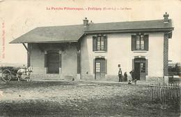 040621 - 28 LE PERCHE PITTORESQUE - FRETIGNY La Gare - Chemin De Fer Train Attelage Cheval Chef De Gare - Otros Municipios
