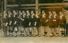 040621 - CARTE PHOTO A BIENVENU Paris - 34 CETTE SETE - FC DE SETE COUPE DE FRANCE 1930 - Sport équipe De Foot - Sete (Cette)