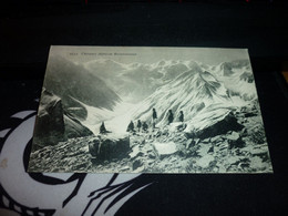 Carte Postale Militaire Chasseurs Alpins En Reconnaissance Montagne Guerre - Manovre