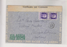 ITALY 1943 MILITARY POST PM 550 Censored Airmail Cover - Poste Aérienne