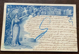 CARTOLINA POSTALE NOZZE REALI - DA PONTECAGNANO A BOLOGNA IN DATA 19/11/1896 - Ganzsachen