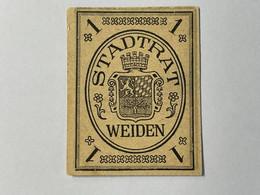 Allemagne Notgeld Weiden 1 Pfennig - Collezioni