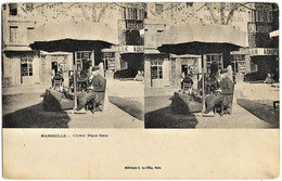 E7 BDR 13 MARSEILLE Carte Stéréo Le Cireur Place Gelu TBE N'a Pas Circulé - Altri