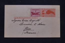 ETATS UNIS - Entier Postal + Complément De Spokane Par Avion Pour La France En 1957 - L 99214 - 1941-60