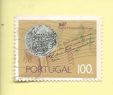 TIMBRES - STAMPS - FRANCOBOLLI - PORTUGAL - 1987 - 300 ANS DE ÉMISSION DU PAPIER-MONNAIE - TIMBRE OBLITÉRÉ - Used Stamps
