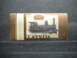 Steam Locomotive, Railway # Latvia Lettland Lettonie # 2009 MNH #Mi. 765 Trains - Trains