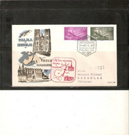 ESPAGNE . LETTRE 1er VOL PALMA - BRUXELLES . 1956 . Timbres PA266/PA275 . R/V . - Storia Postale