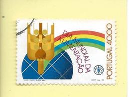 TIMBRES - STAMPS - FRANCOBOLLI - SELLOS - PORTUGAL - 1984 - JOURNÉE MONDIALE DE L'ALIMENTATION - TIMBRE OBLITÉRÉ - Used Stamps