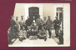 040621A - CARTE PHOTO MILITAIRE 34 LAMALOU Villa Des Palmiers Ambulance 8 Fabre Directeur 1917 Blessé Convalescent - HM - Lamalou Les Bains