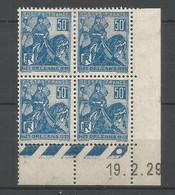 Coins Daté France Neuf *  N 257   Année 1929     Charniére En Haut - ....-1929