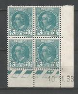Coins Daté France Neuf *  N 291   Année 1933     Charniére En Haut - 1930-1939