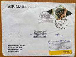 India To Switzerland Tortoise Post Mark With Stamp Return To Sender Cover - Meereswelt
