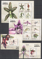 TT948 2011 GAMBIA FLORA FLOWERS ORCHIDS OF AFRICA !!! 2BL+2KB MNH - Orchidee