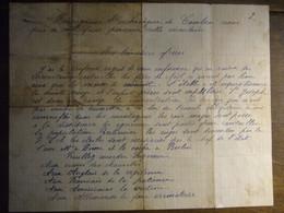 RESISTANCE     Doc Manuscrit   Message Apocryphe De L'Archevêque De Cambrai  (doc Anti Allemand) - Historical Documents