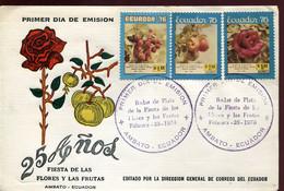 64747 Ecuador,  Fdc 1976  Fiesta De Las Floras Y Las Frutas, Flower And Fruit Festival - Sonstige