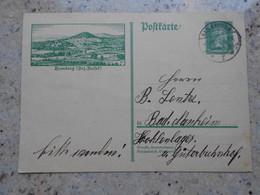 DR, Bildpostkarte P 174, Bild 01 (Homberg), Gelaufen (2130) - Stamped Stationery
