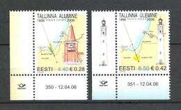 Estonie 2006 Yvert 517/518 ** Serie Phares Lighthouses Faros Leuchtrum Cdf Daté Avec Illustration - Phares