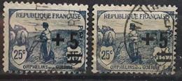 France Caisse D'amortissement 1922, Orphelins De La Guerre Yvert 165, 2 Nuances Bleu / Bleu Foncé Inscriptions ,obl  TB - Sinking Fund