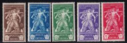 Eritrea Istituto Agricolo 1930 Serie Completa Sass.174/178 MNH** Cv 125 - Eritrea