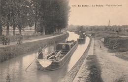 REF.AD . CPA . 18 . EN BERRY . LE PONDY VUE SUR LE CANAL  .  PENICHES - Embarcaciones