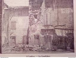 1909 TREMBLEMENT DE TERRE DANS LE MIDI DE LA FRANCE - SAINT CANNAT - LAMBESC - 1900 - 1949
