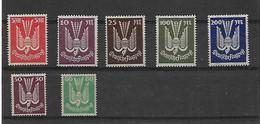 7 Timbres  Poste Aérienne Du Reich Non Oblitéré - Unused Stamps