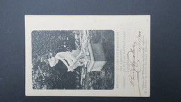 Grece Entier Postal Corfou Achillion Statue De Matelot 1902 Pour La France , Postal Stationary Used 1902 - Enteros Postales