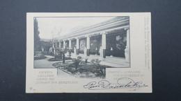 Grece Entier Postal Corfou Achillion Vue D'ensemble Péristyle 1902 Pour La France , Postal Stationary Used 1902 - Enteros Postales