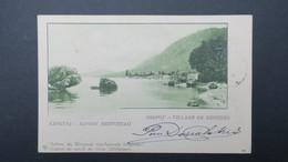 Grece Entier Postal Corfou Villa De Bénitzès 1902 Pour La France , Postal Stationary Used 1902 - Enteros Postales