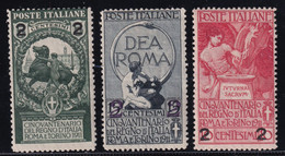 Regno D'Italia 1913 Serie Completa Sass.99/101 MH* Cv 8 - Neufs