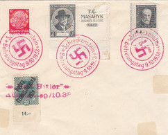 Deutsches Reich Brief Sudetenland Tag Der Befreiung 1938 - Occupazione 1938 – 45