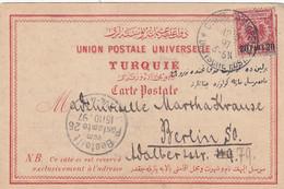 Deutsches Reich Turkei Postkarte 1897 - Ufficio: Turchia