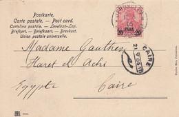 Deutsches Reich Turkei Postkarte 1905 - Ufficio: Turchia