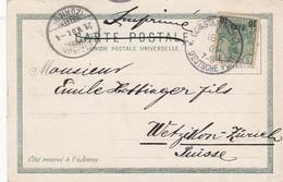 Deutsches Reich Turkei Postkarte 1901 - Ufficio: Turchia