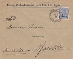 Deutsches Reich Turkei Brief 1901 - Ufficio: Turchia