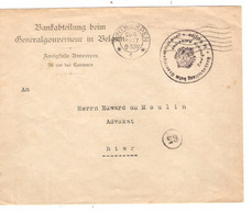 69REF/ Bankabteilung Beim Generalgouverneur In Belgien Griffe Reichsgou...c.Antwerpen 25/5/1917 > Hier ? Lier ? - Andere Brieven