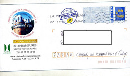 Pap Logo Bleu Flamme Chiffree Illustré Chateau Rambures - PAP: Aufdrucke/Blaues Logo