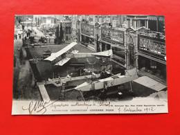 CPA EXPOSITION LOCOMOTION AÉRIENNE PARIS 7/11/1912 SIGNÉE BLERIOT - Aviadores